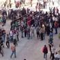 تجمع الأهالي في معضمية الشام استعدادا لرحلة التهجير إلى إدلب