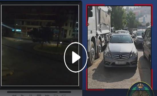 بالفيديو : ضبط سائق قام بارتكاب مخالفة التشحيط وعرض حياة الاخرين للخطر
