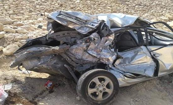 وفاة شخص وإصابة ثلاثة اثر حادث تدهور في الكرك