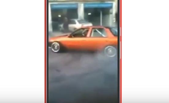 بالفيديو : سائق يقوم بالتشحيط وسط الشارع والأمن يلقي القبض عليه