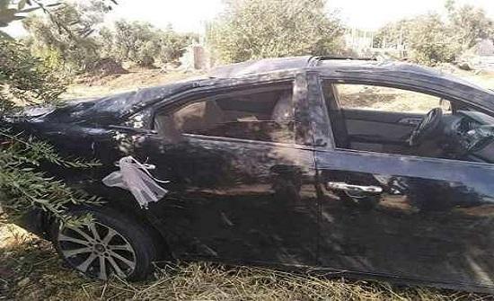 اصابة عروسين بتدهور مركبة الزفاف في إربد