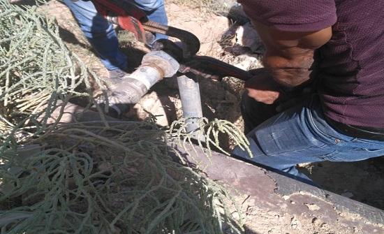وزارة المياه والري تضبط اعتداء جديد في منطقة الموقر