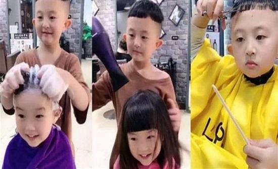 مهارات طفل الـ 6 سنوات في الحلاقة تُشعل الإنترنت! (فيديو)