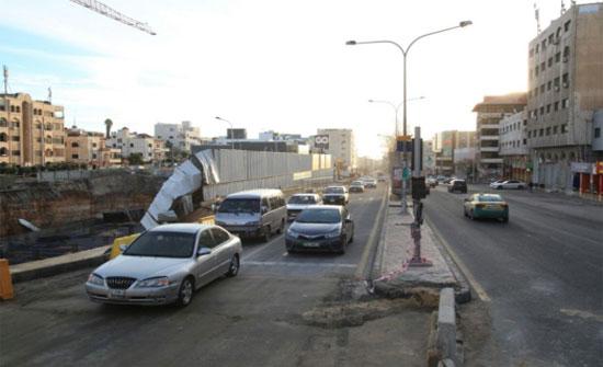 فتح شارع الشهيد وصفي التل مع الإبقاء على التحويلات المرورية..(صور)
