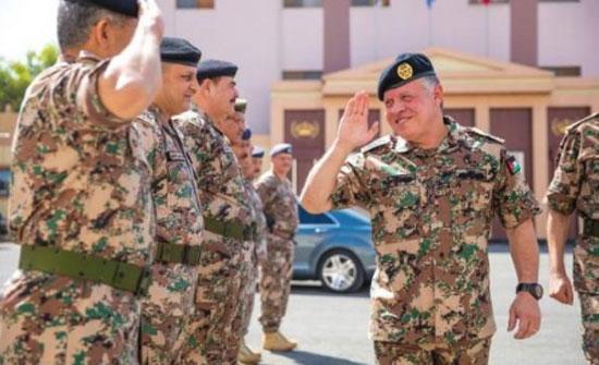 الملك يزور واجهة المنطقة العسكرية الشمالية