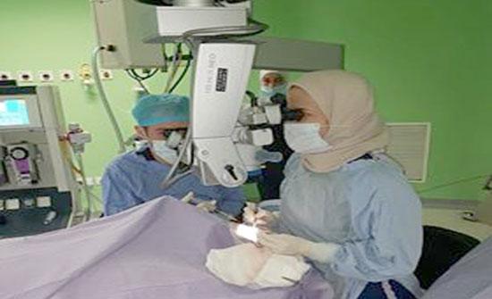 زراعة قرنية بمستشفى الأميرة هيا بنت الحسين العسكري