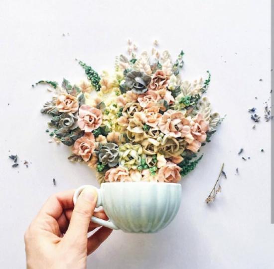"""هذه الورود المُبهجة المصنوعة من عجينة السكر""""صور """""""