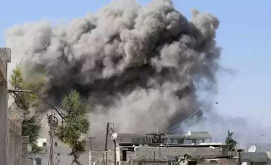 بارجات روسية تقصف ريف إدلب بصواريخ بالستية