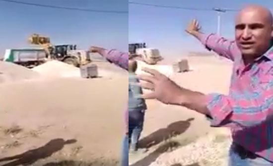 شاهد ماذا فعل أردني بعد اكتشافه أن شاحنته تذهب للتطبیع؟! ..فيديو