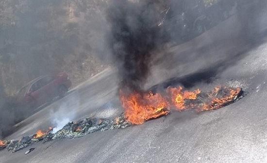 بالصور  : اعمال شغب في جرش