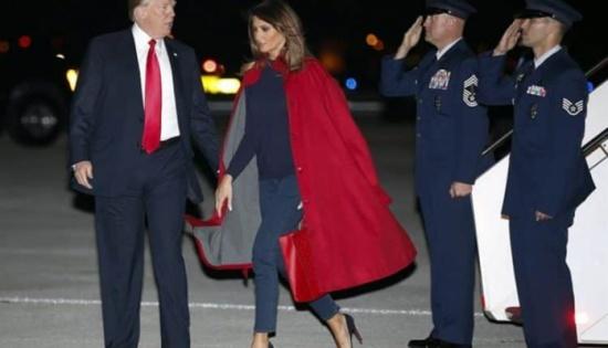 شاهد: ميلانيا ترامب تضع زوجها في موقف محرج جديد أمام وسائل الإعلام