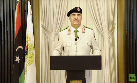 شاهد ..المشير أركان حرب خليفة حفتر: القوات الليبية تقترب من الانتصار على الإرهاب في طرابلس