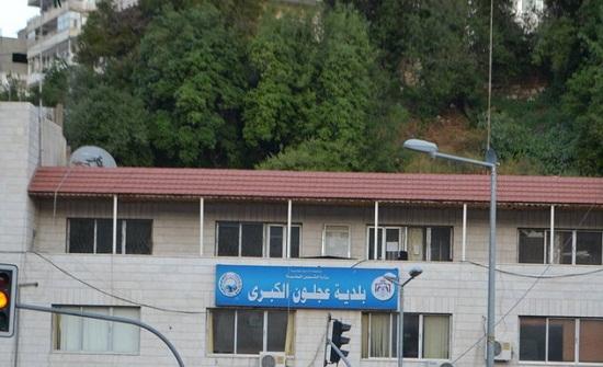 بلدية عجلون تنجز جدارية الشهيد
