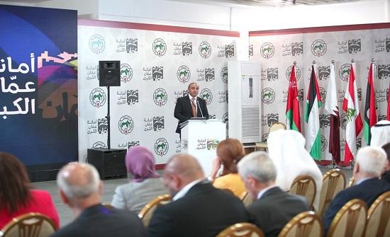 الشواربه يستعرض تجربة أمانة عمان بتحقيق التنمية المستدامة من خلال الشراكات