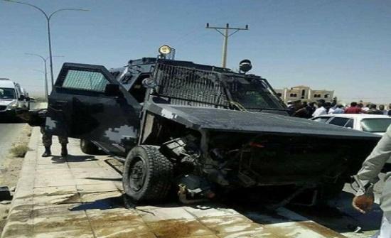 بالفيديو والصور ... معان :  وفاة ثلاثيني اثر اصطدام  مروع بين مركبته ودورية درك