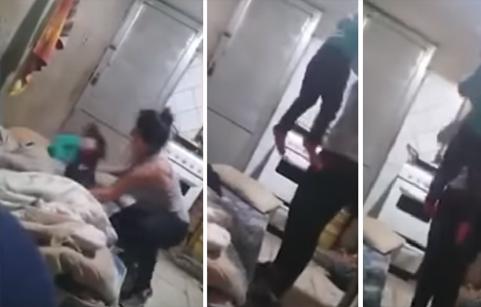 فيديو وحشي| حملت طفلتها '3 سنوات' من شعرها وأسقطتها أرضاً.. والسبب!