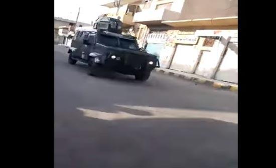 بالفيديو:القوة الأمنية التي طوقت احد الاحياء في حي الطور بمدينة معان بحثاً عن قاتل الشهيد الربابعة