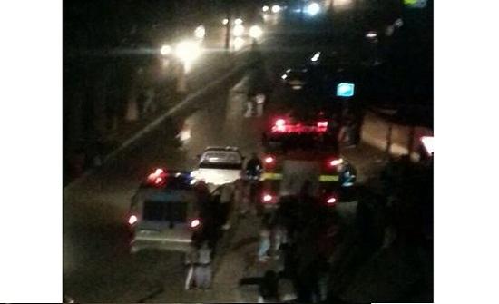 اصابة طفلين في جرش اثر سقوط لوحة اعلانية