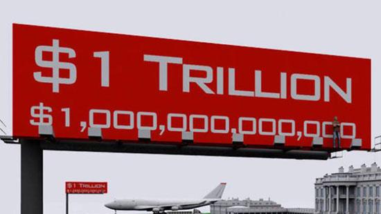 فيديو وصور - هل تخيلت يوما حجم التريليون دولار؟!