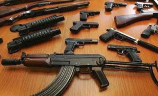 ضبط اسلحة غير مرخصة في الزرقاء