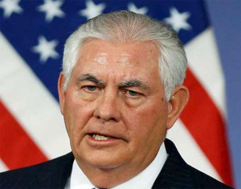 """تيلرسون: ترامب """"ملتزم للغاية"""" بعملية السلام في الشرق الأوسط"""