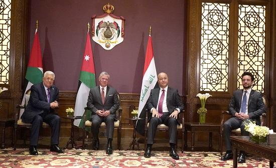 اجتماع ثلاثي بين الملك وبرهم وعباس في عمان