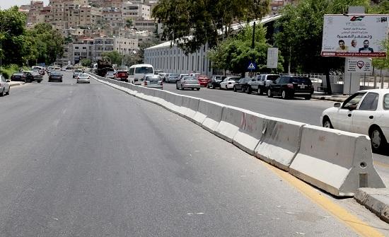 إغلاق شارع عمر مطر المحاذي لمبنى أمانة عمان وتحويل السير