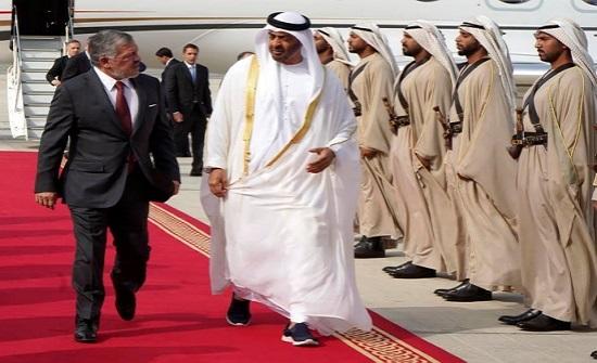 بالصور .. الملك بعد زيارته لأبو ظبي :  أدعو الله أن يديم الود والمحبة بين بلدينا