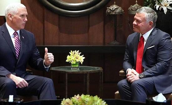 الوسط الإسلامي:تصريحات بنس عن الخلاف مع الملك حول القدس إقرار بموقف الاردن