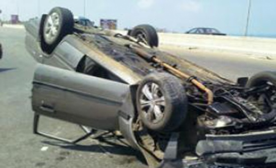 4 إصابات اثر حادث تدهور مركبة في اربد