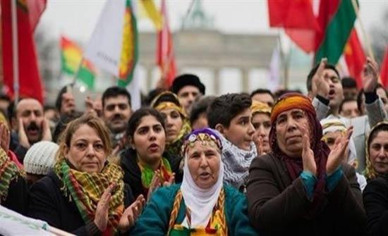 تظاهرة في ألمانيا احتجاجاً على التوغل التركي شمالي سوريا
