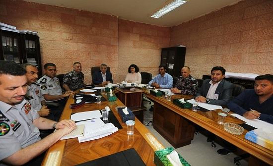 وفد من الدفاع المدني يزور إقليم البترا لمناقشة تصاميم متنزة الهيشة