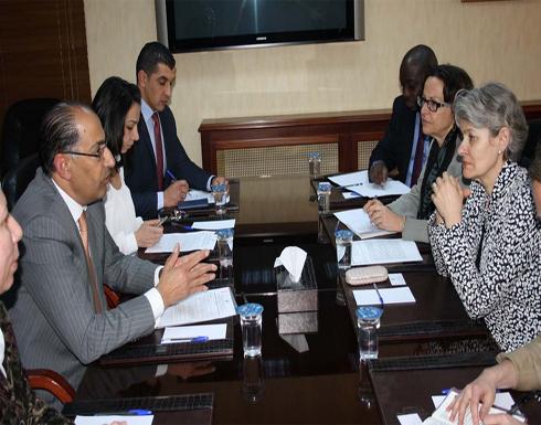 وزير التخطيط يلتقي مدير عام منظمة اليونسكو