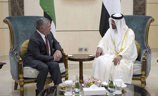 بالصور : الملك وولي عهد أبوظبي يؤكدان متانة العلاقات الأخوية والتاريخية بين البلدين