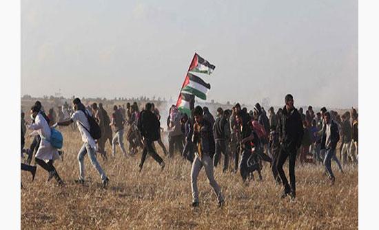 انطلاق مسيرات العودة في غزة