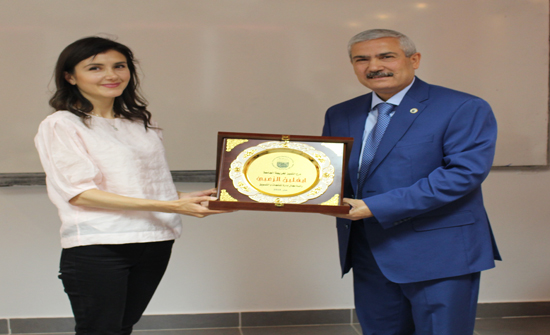 تكريم الزعبي في جامعة الأميرة سمية للتكنولوجيا