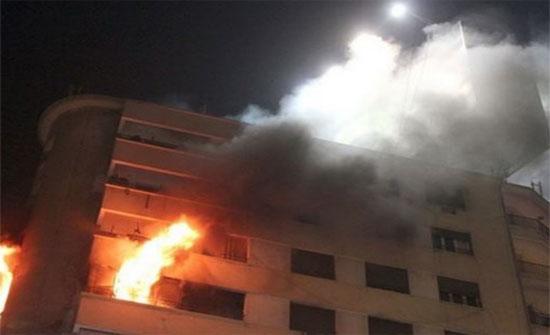 وفاة فتاة وإصابة والدها في حريق شقة بعمان