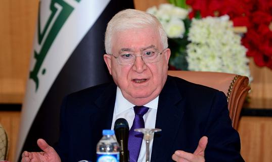 الرئيس العراقي يلتقي رئيس مجلس الاعيان