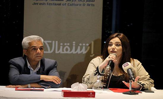 الفنانة اللبنانية نعمة: مهرجان جرش يحمل تاريخ وحضارة وروعة المكان
