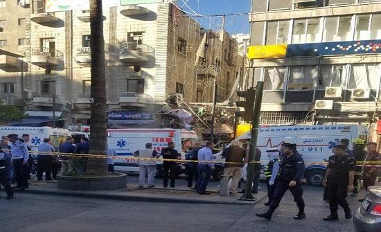 بالصور: وفاتان وإصابة آخرين اثر حادث تسرب غاز في عمان