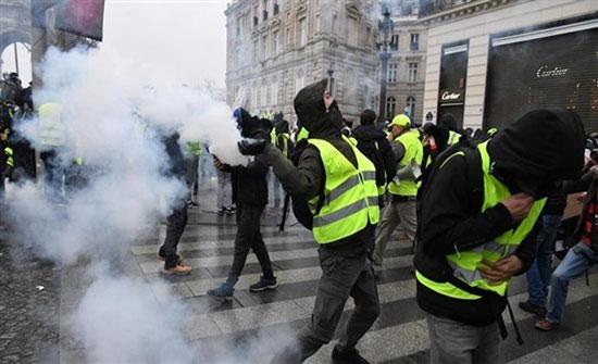 """مئات من محتجي """"السترات الصفراء"""" يتظاهرون في باريس"""