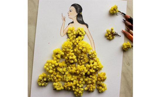 7903dff6814d5 ( 15 صورة ) فنان يبدع في تصميم الأزياء باستخدام الطبيعة - المدينة نيوز