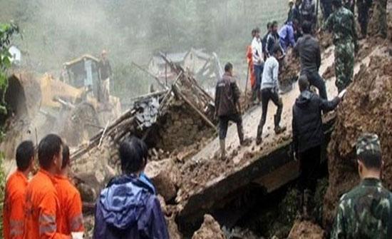 59 قتيلا في الانهيارات الأرضية جراء الأمطار الموسمية في ميانمار