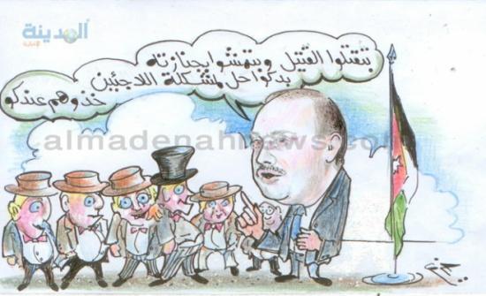 """اقتراح بنقل اللاجئين في الأردن  بطائرات """" أردنية """""""