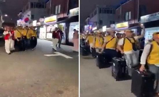 بالفيديو: مشهد مهيب لمسلمي كوريا الجنوبية بطريقهم لمكة لأداء فريضة الحج