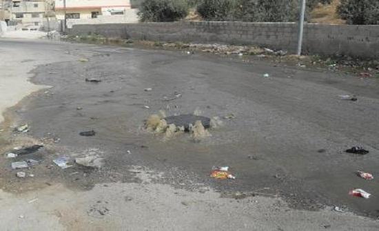 عجلون:مواطنون يشكون من تكرار فيضان المياه العادمة بكفرنجه