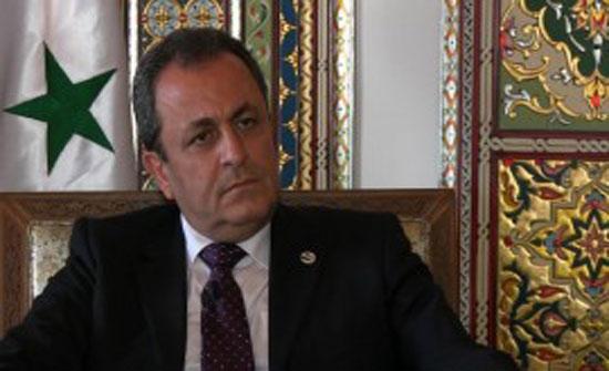 القائم بالأعمال السوري: لا مانع من تبادل السفراء مع الأردن في أي وقت