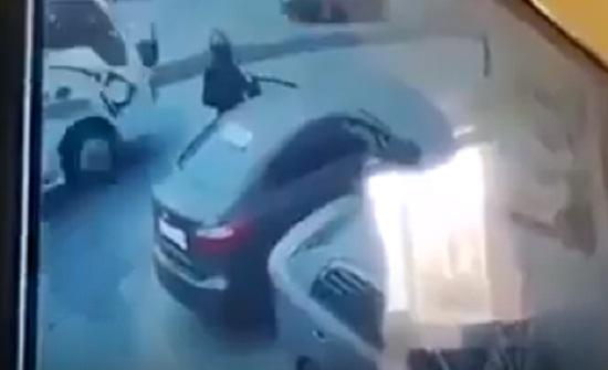 شاهدوا فيديو السطو المسلح على البنك العربي الاسلامي في خلدا