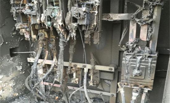 بالصور.. حريق محول كهربائي في الكرك أثناء أحداث مؤتة
