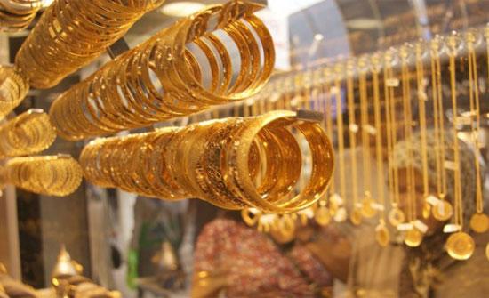 الذهب ينخفض 30 قرشاً الأسبوع الماضي وعيار 24 يسجل 5.32ديناراً بالسوق المحلي
